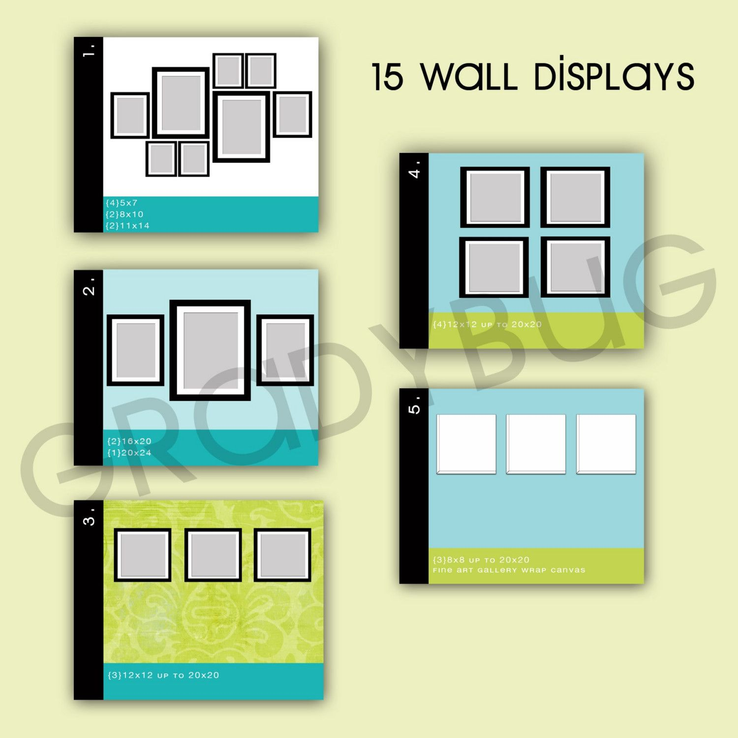 Wall Display Templates for Photographers | Display, Wall galleries ...