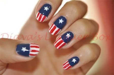 I Am Showcasing 12 Awesome Captain America Nail Art Designs Ideas Trends Stickers Of Make S Flag With Stunning And Dazzle Your