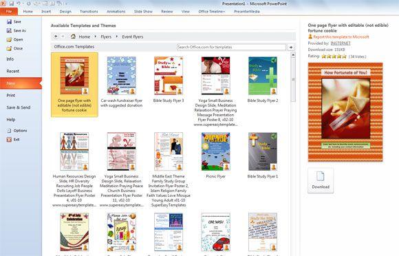 flyer templates in powerpoint 2010 powerpoint presentation flyer
