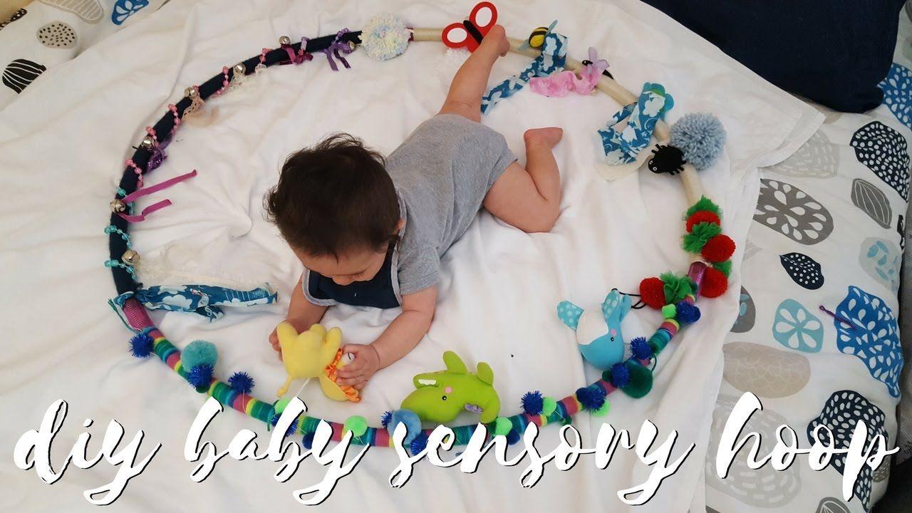 Diy baby sensory hoop baby sensory diy baby stuff baby
