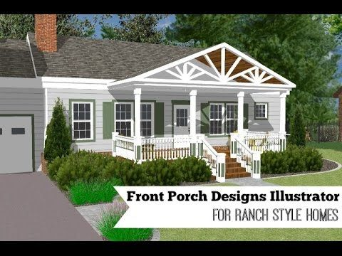 Great Front Porch Designs Illustrator on a Basic Ranch Home Design ...