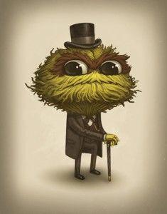 Too Cute Oscar The Grouch Mike Mitchell Art Oscar The Grouch