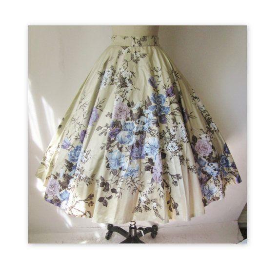 1950s vintage skirt - gorgeous