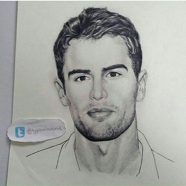 the hottest most realistic drawing of theo i have ever seen in my