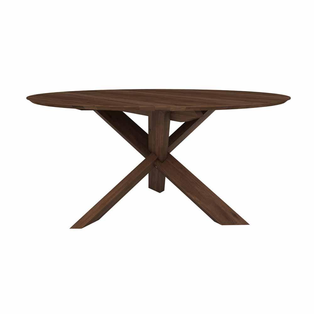 Runder Designertisch Aus Nuss Bei Milanari Com Tisch Esstisch