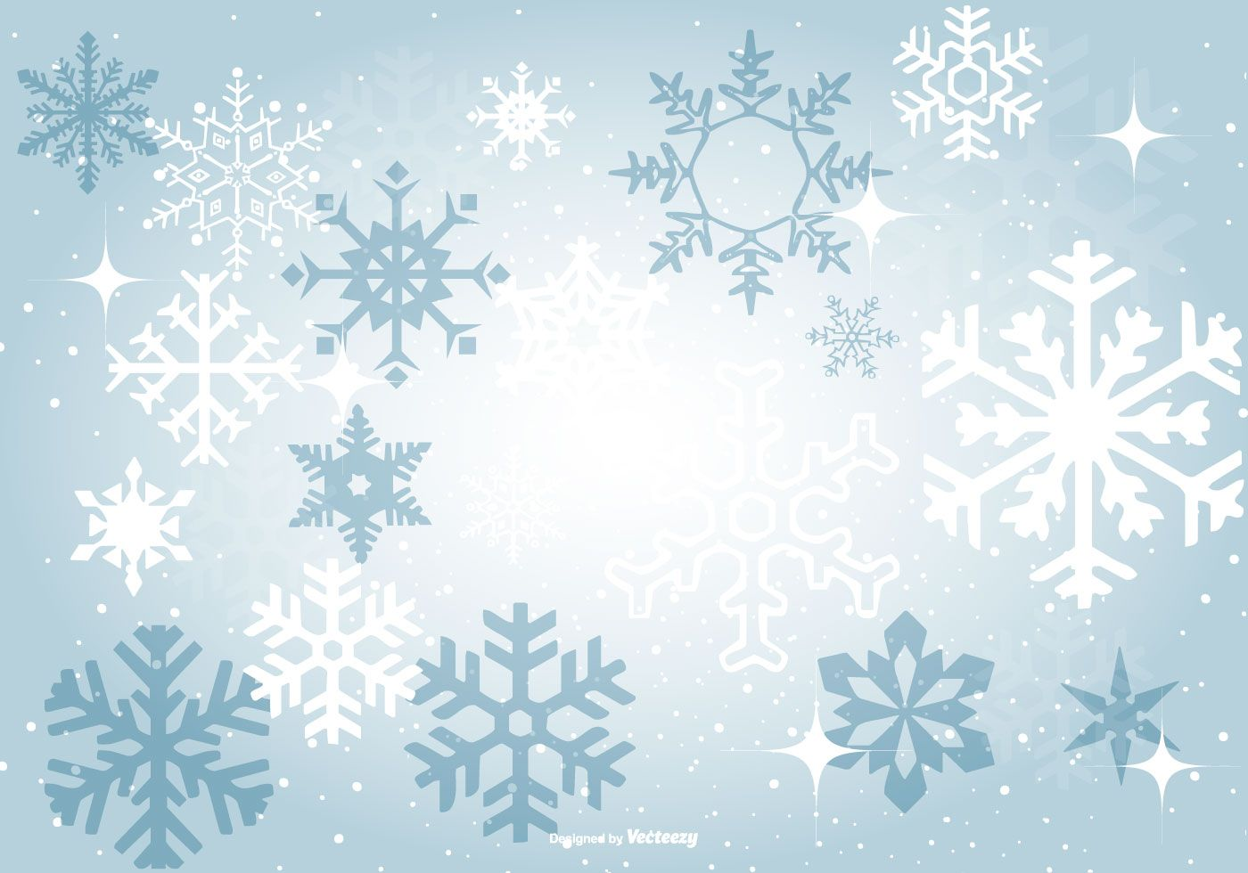 Beautiful Blue Snowflake Background Vector. Choose from