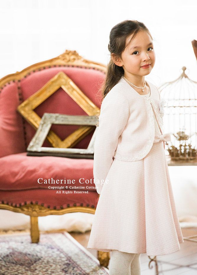 66dbc29617efa 商品番号: TK1076 女の子スーツ エンブレム付きボレロジャケット ワンピースセット アンサンブル  子供