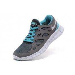 Nike Free Run 2 - Mujer Zapatillas de running - gris oscuro blanco azul  HM07O