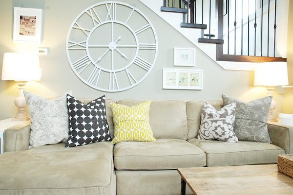 Pillow Colors With Tan Couch Gray Walls Love The Colors Home