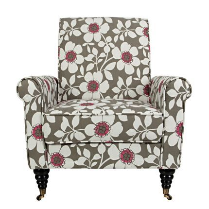 Angelo Home Gray Sky Floral Upholstered Chair Upholstered Chairs
