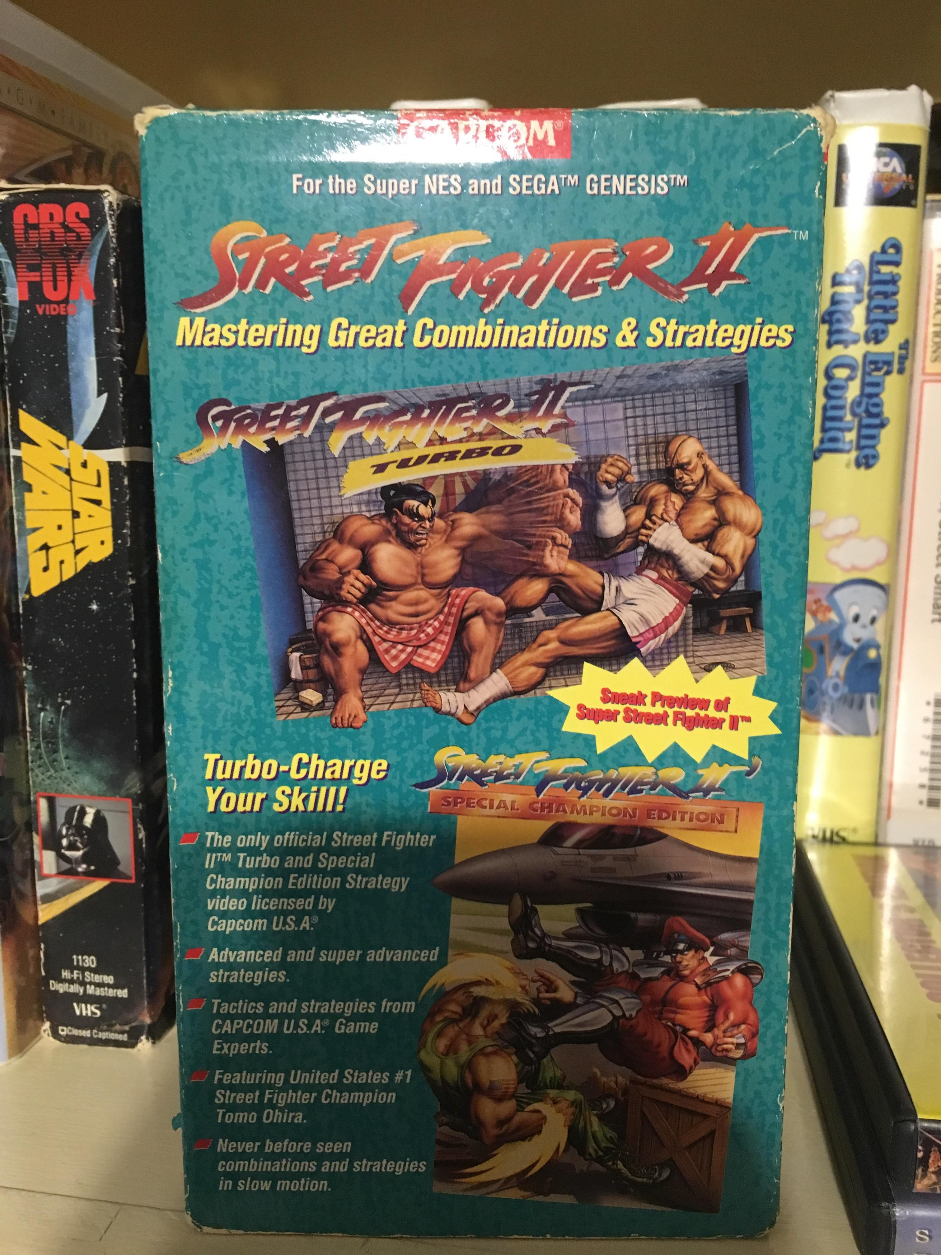 found this awesome street fighter 2 strategy vhs tape at goodwill
