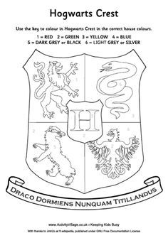 Superb Harry Potter House Crest Coloring Page...Iu0027m Thinking We Need This For The  Road Trip @Kelly Teske Goldsworthy Lutz