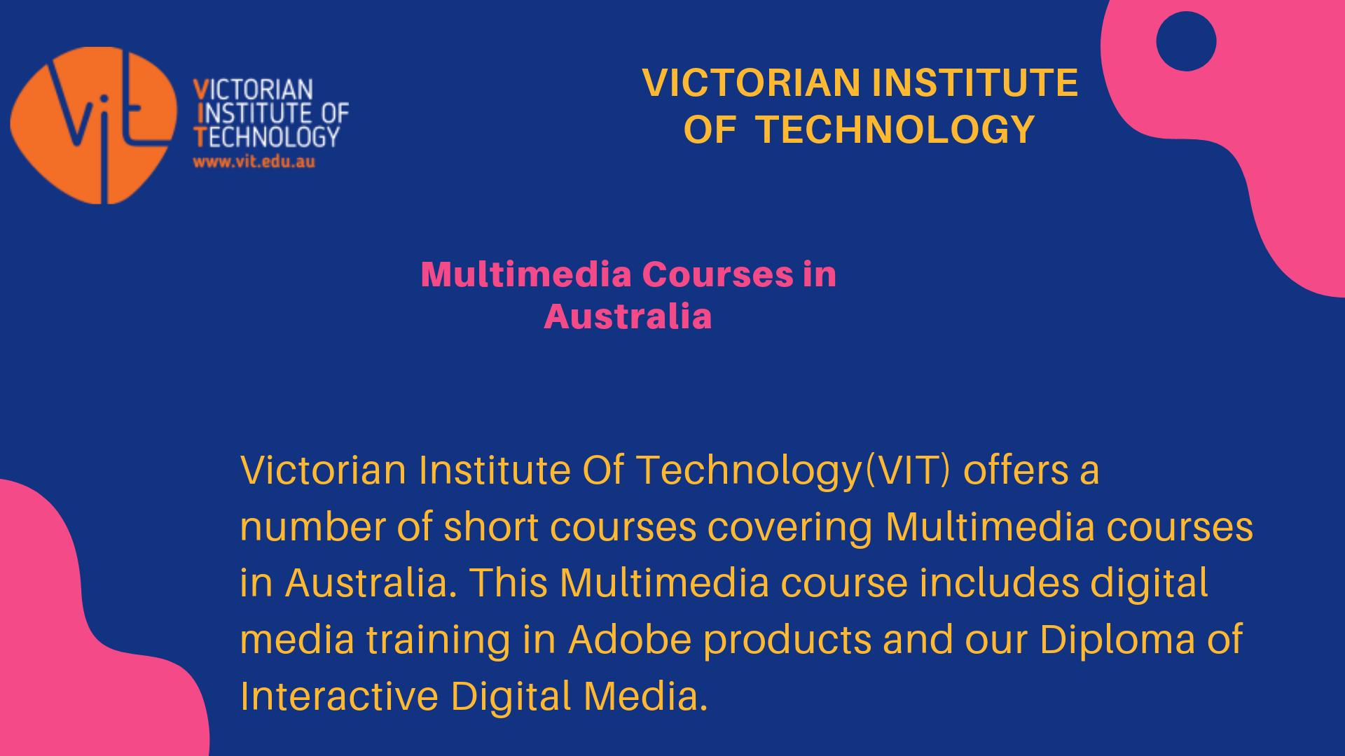 Multimedia Courses In Melbourne Multimedia Courses Australia