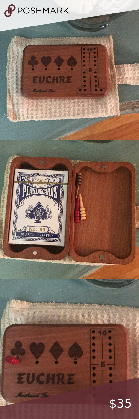 Euchre Card Game Wood Counter in 2020 Card games, Euchre