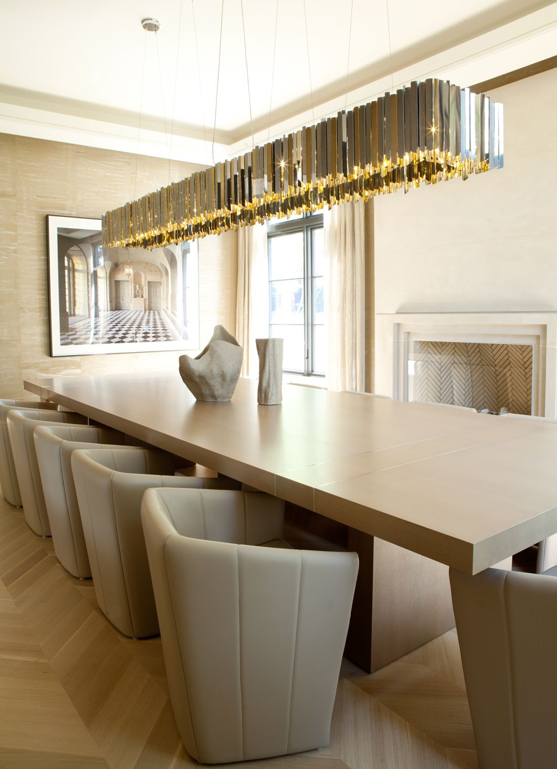 Contemporary Tenafly Home by Jessica Gersten Interiors | Dining ...