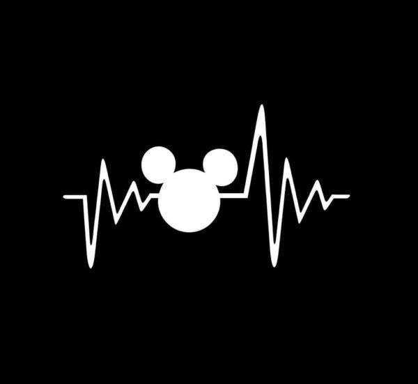 Mickey mouse heartbeat Window Decal Sticker – Custom Sticker Shop