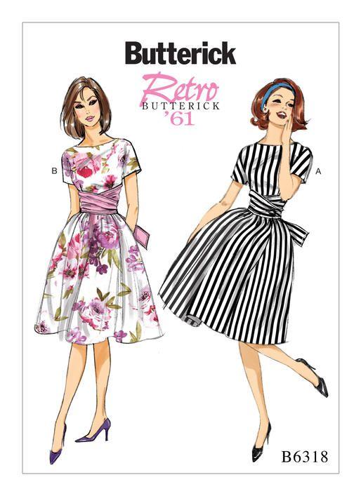 B6318 | Butterick Patterns | Sewing | Pinterest | Dress patterns ...