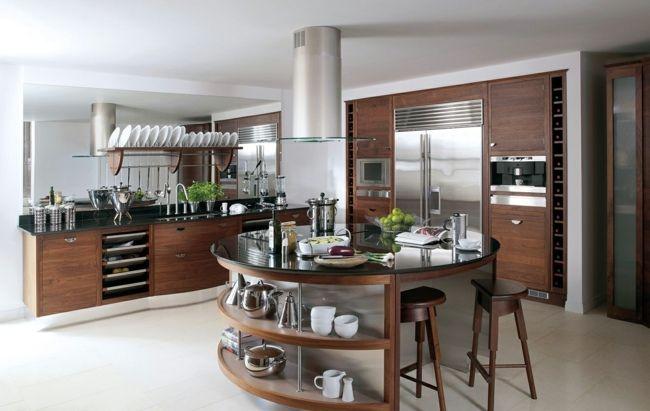 Kücheninsel Edelstahl ~ Holz kochinsel regale edelstahl küchen kitchens køkken