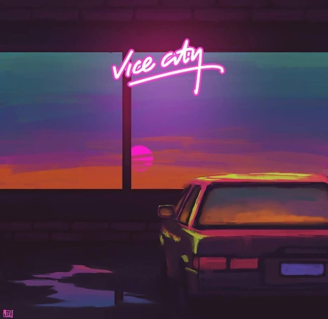 Vice City Car synthwave neon retro new retro synthwave new ...