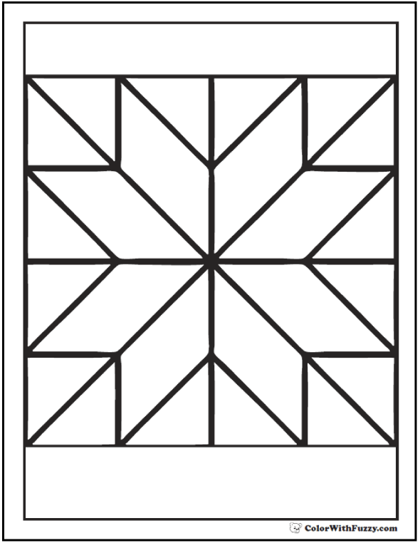 Pattern Coloring Pages Customize Pdf Printables Pattern Coloring Pages Geometric Coloring Pages Barn Quilt Patterns