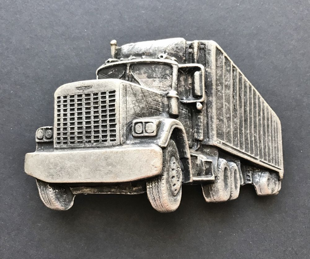 Truck Trailer rig  Belt Buckle