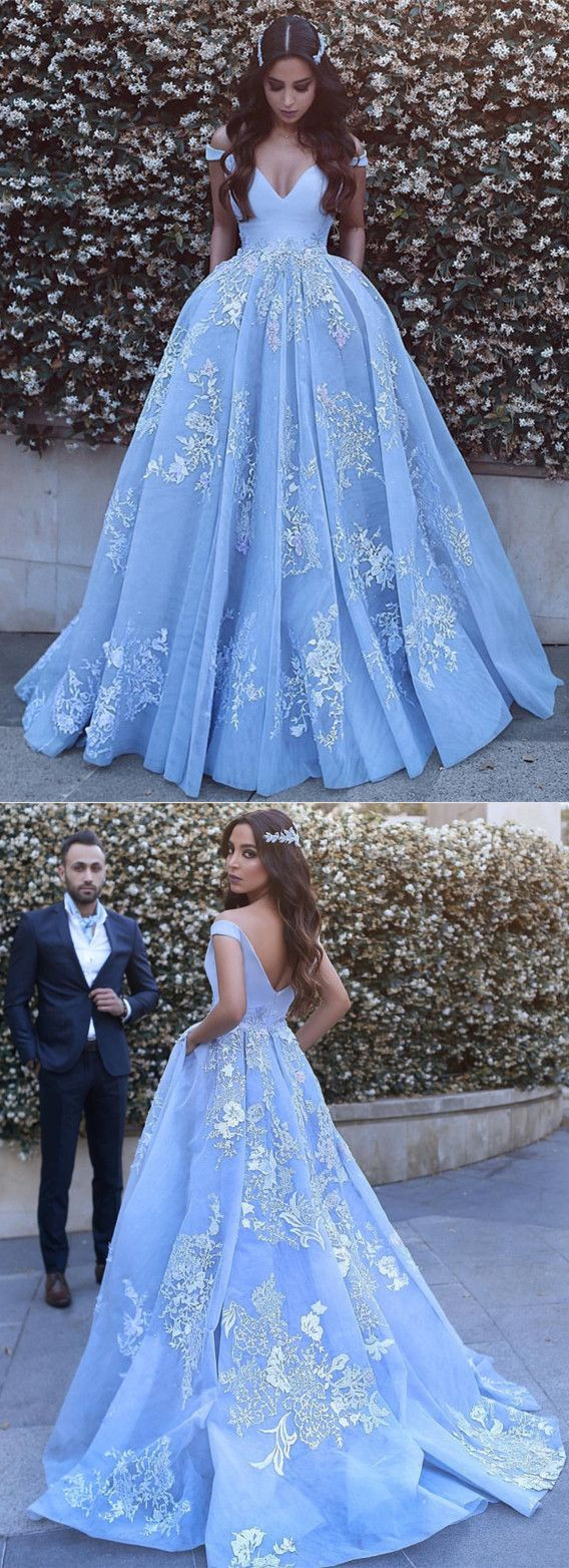 light blue tulle ball gowns prom dresses lace appliques. Black Bedroom Furniture Sets. Home Design Ideas
