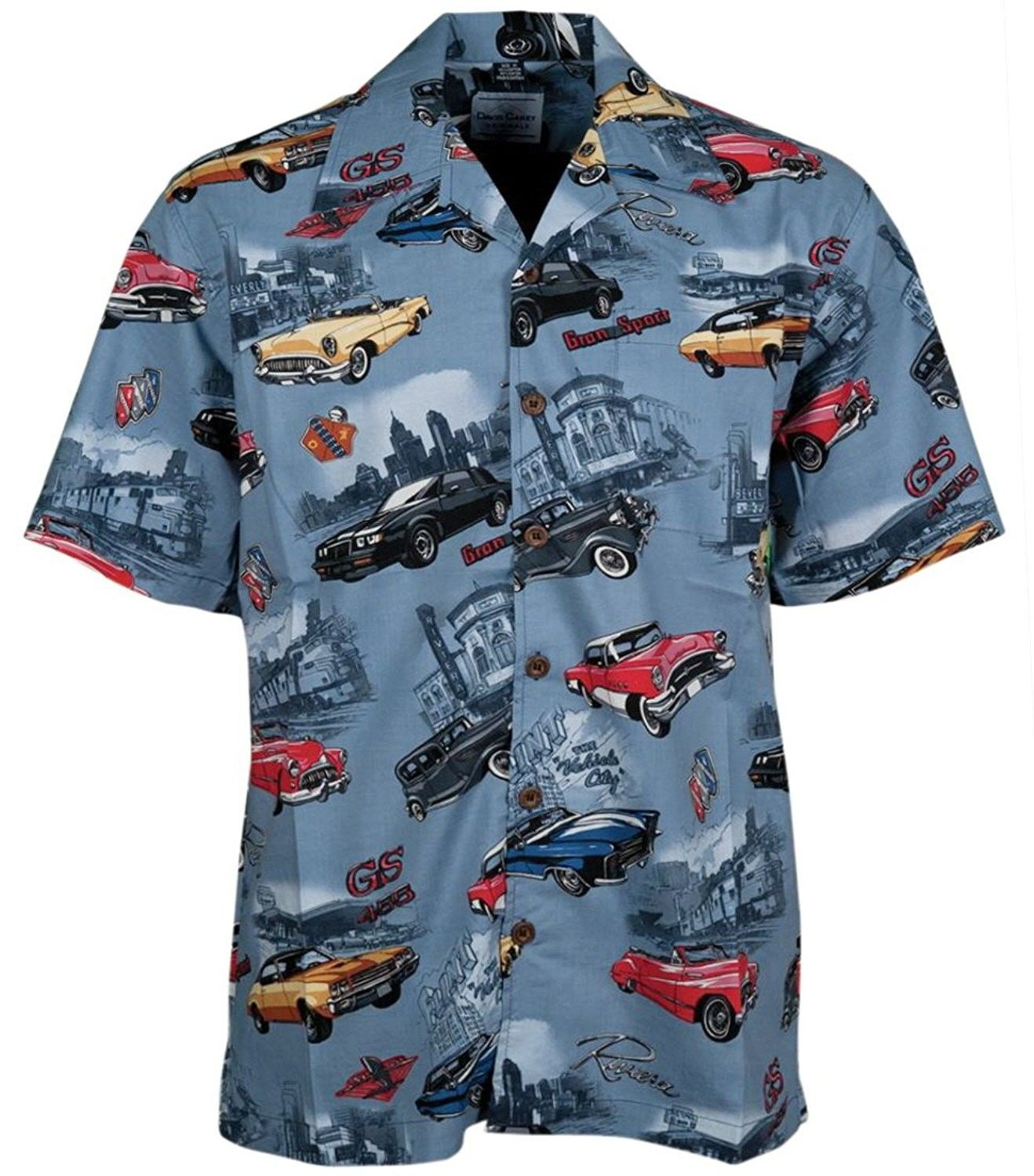 Men's Clothing, Shirts, Casual Button-Down Shirts,Buick Classic Cars Regal Skyla…