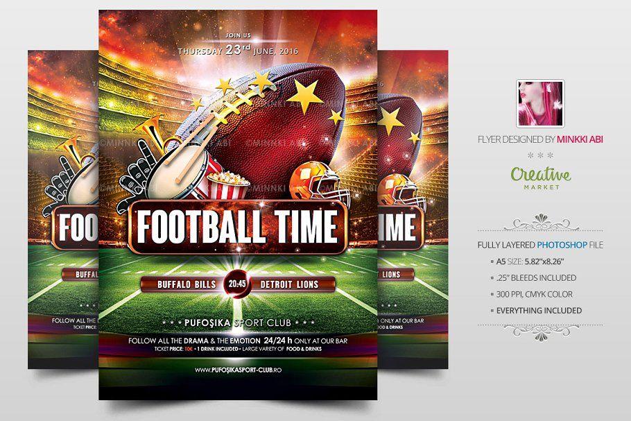 American Football Flyer Poster Flyer design, Templates