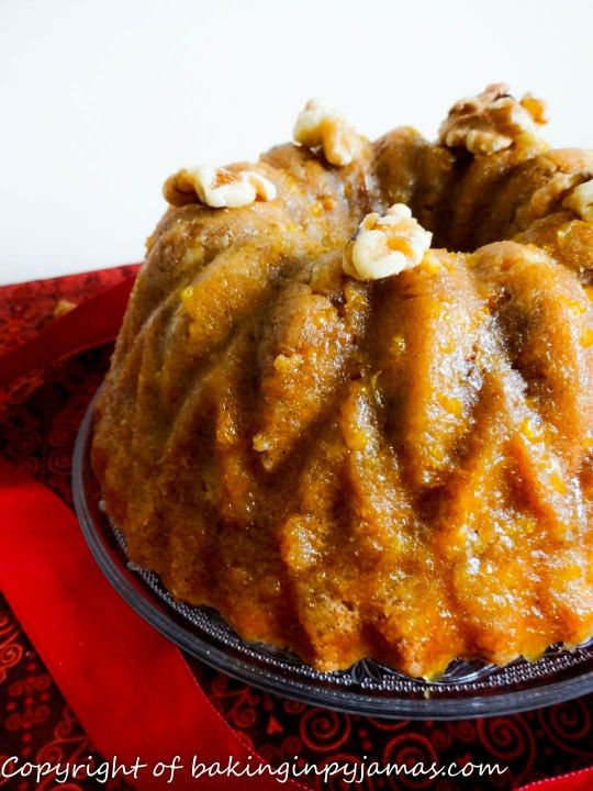 Orange Walnut Spice Pound Cake 9