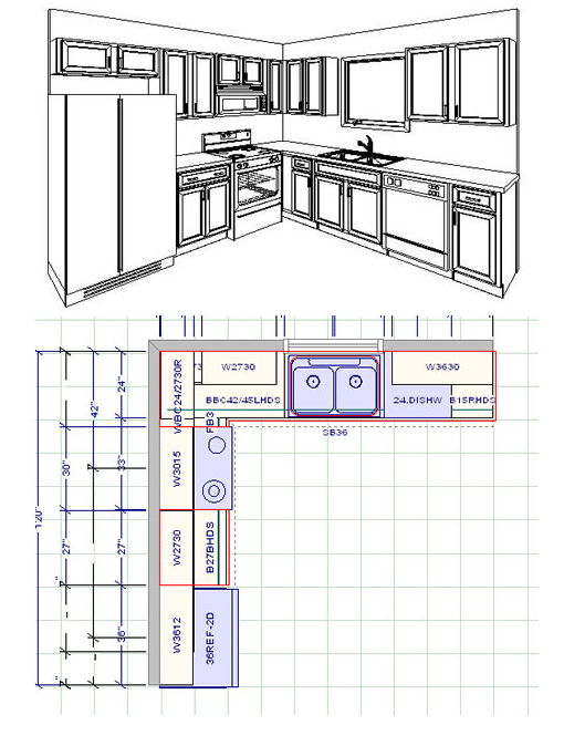 Kitchen cabinet layout 10x10 10 x 10 kitchen layout with for 10x10 living room layout