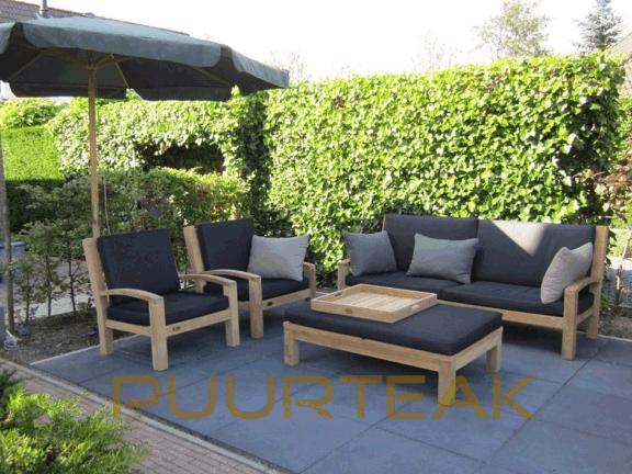 Tuinmeubelen teak loungeset aanbieding for Aanbieding meubels