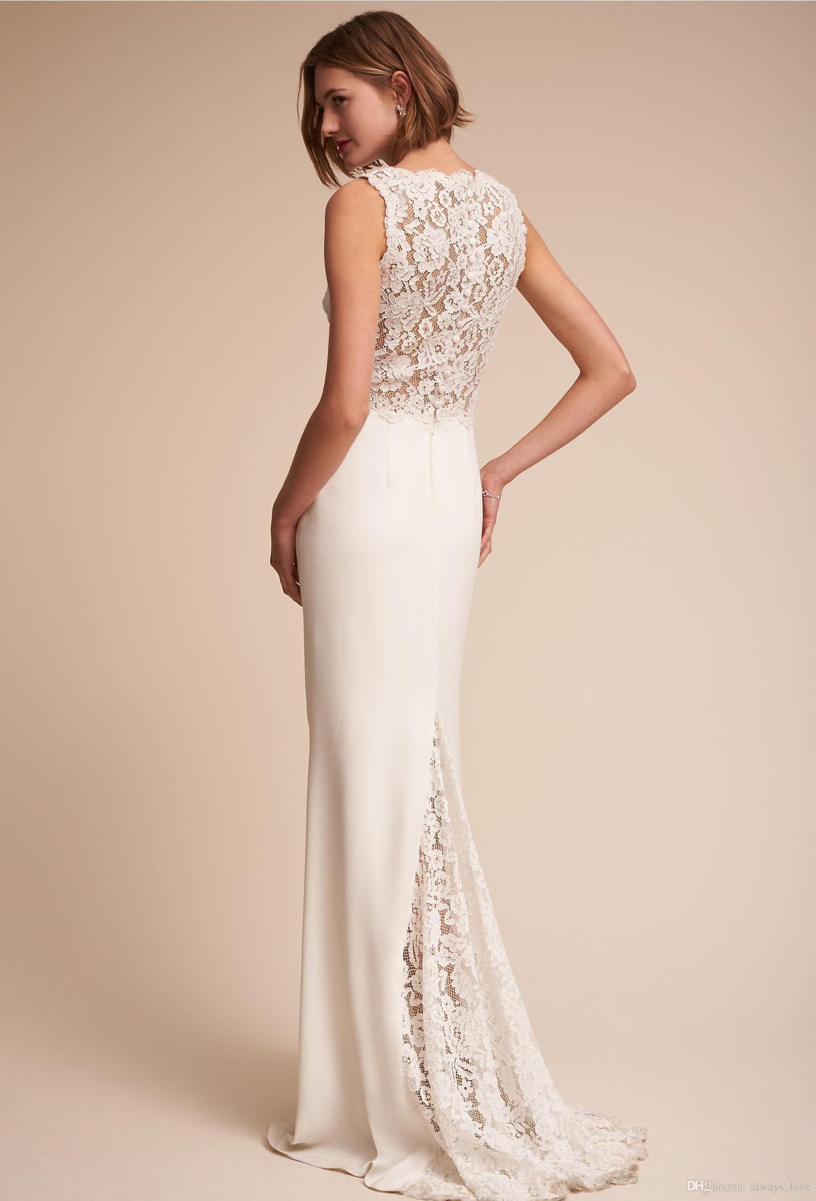 Großhandel 2017 Exquisite Illusion Spitze Appliqued Hochzeitskleid ...