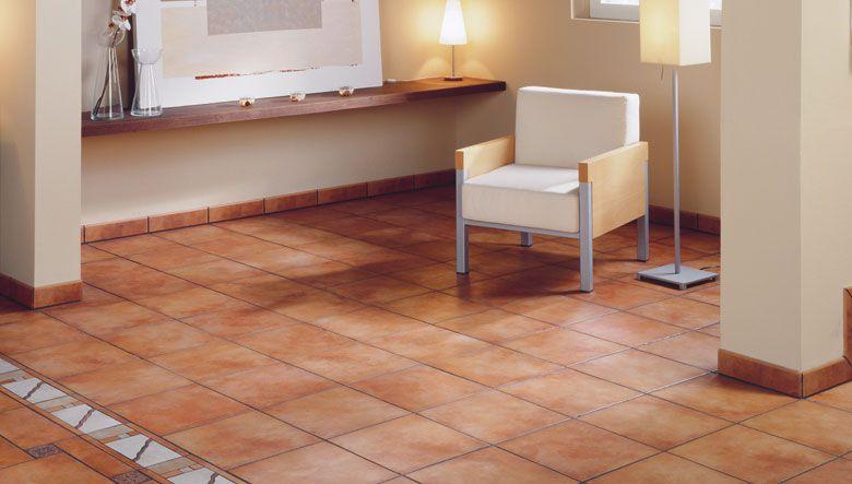 cerámicos para suelos de clásico diseño en barro combinándolos con ...