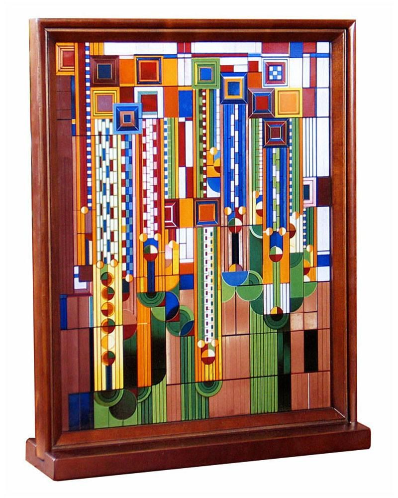 This Frank Lloyd Wright Saguaro Wood Framed Stained Gl Ly Recreates One Of S Most Por Designs The Design Is A Number Liberty