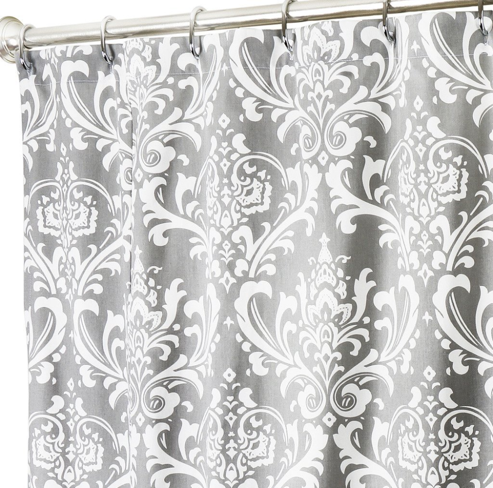 Grey Damask Shower Curtain Google Search In 2020 Extra Long Shower Curtain Long Shower Curtains Unique Shower Curtain