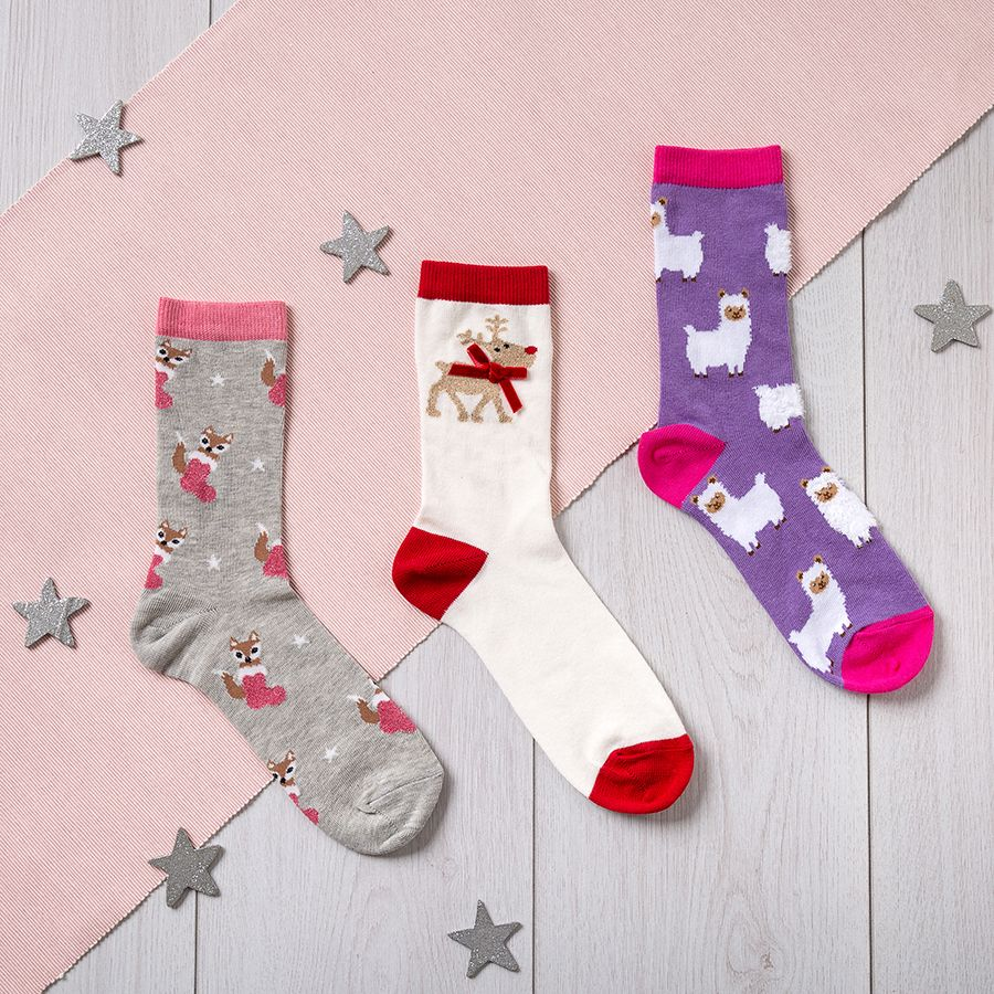 Ladies Novelty Fox Design Socks