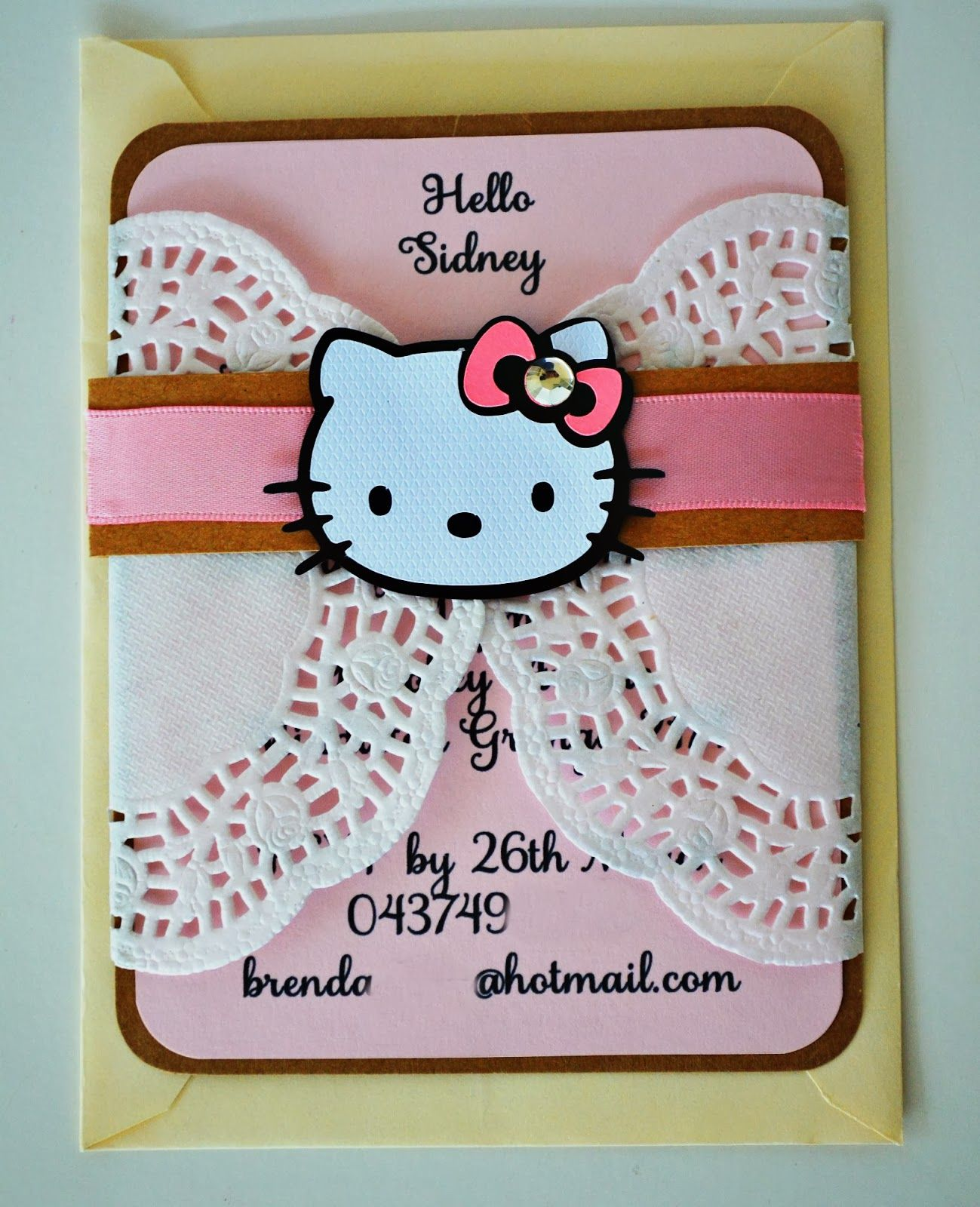 Hello kitty invitations Hello kitty party Pinterest Hello