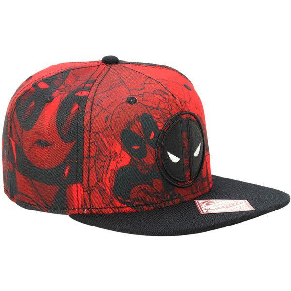 Marvel Deadpool Red Tonal Snapback Hat  4b00ae10739