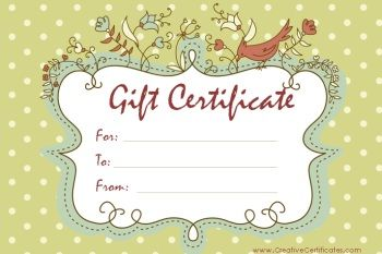 gift certificate | studio | Free gift certificate template ...