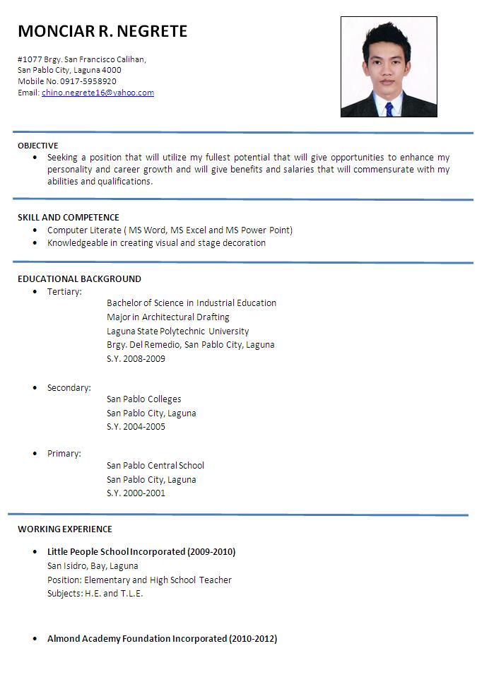 Pin by Samitha on samitha | Pinterest | Sample resume and Sample ...