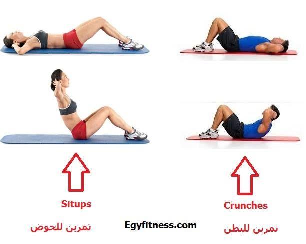 تمارين تخسيس الكرش Workout Exercise Sit Up