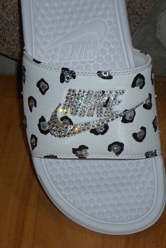 e642dc500a89 Just IN Nike Benassi slides White Silver by Blingitonyouboutique ...