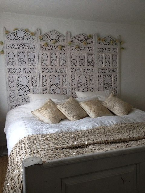 Indian Headboard Screen Handira Boho Bedroom