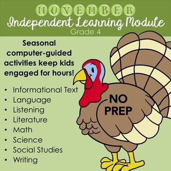 Thanksgiving Chromebook Activities November Independent Learning