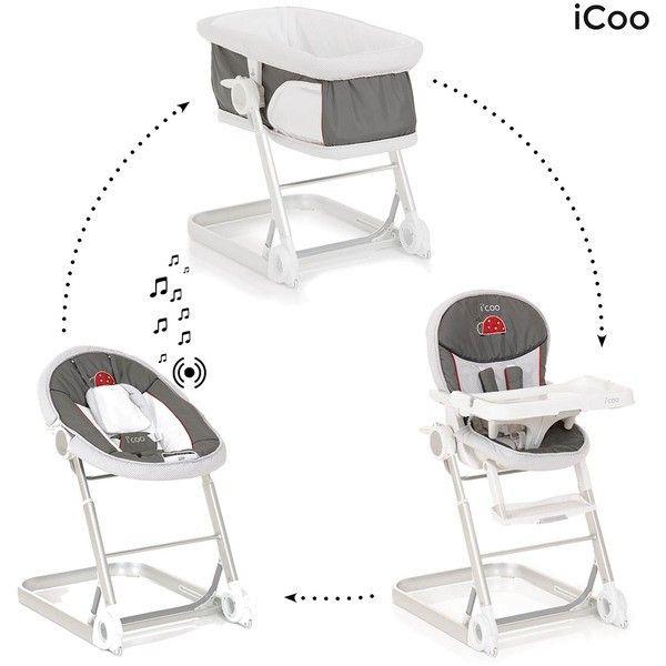 Transat Chaise Haute Icoo Grow With Me 1 2 3 Offre Complete 3 En 1 Bug Blanc Gris Collection 2016 Transat Bebe Chaise Haute