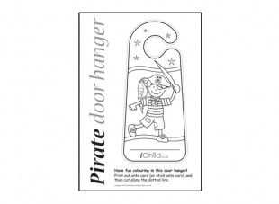 Let Your Child Print Off And Colour In Our Pirate Door Hanger