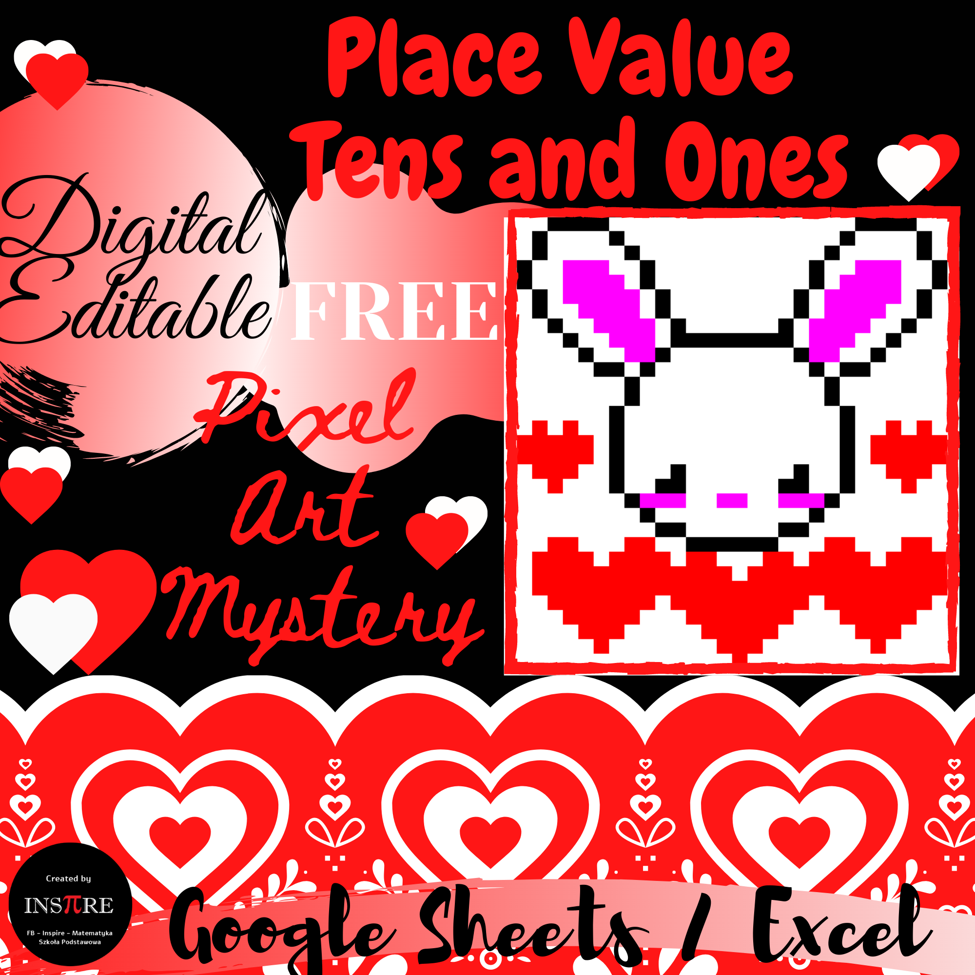 Free Place Value Tens And Ones Bunny Valentine S Day Math Pixel Art Mystery Digital In 2021 Bunny Valentines Valentines Day Activities Math [ 2000 x 2000 Pixel ]