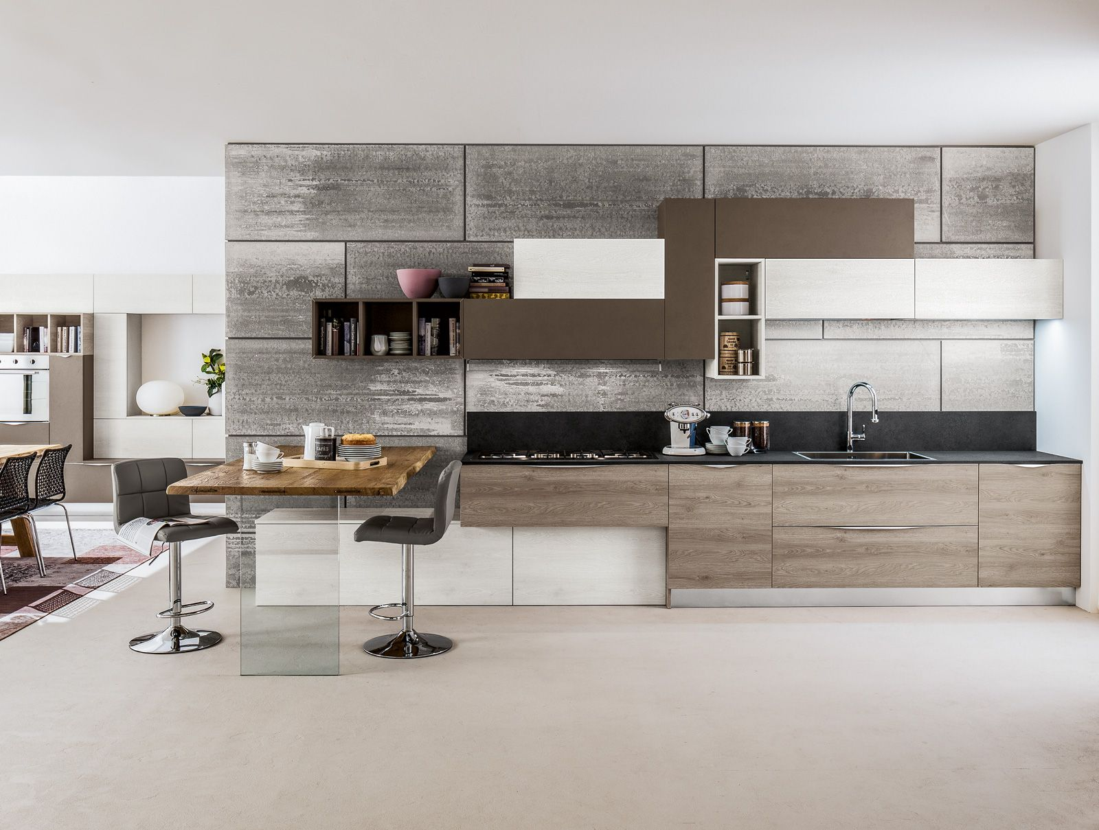 Cucine: tutto su una parete (o quasi) | Kitchen design, Kitchens ...