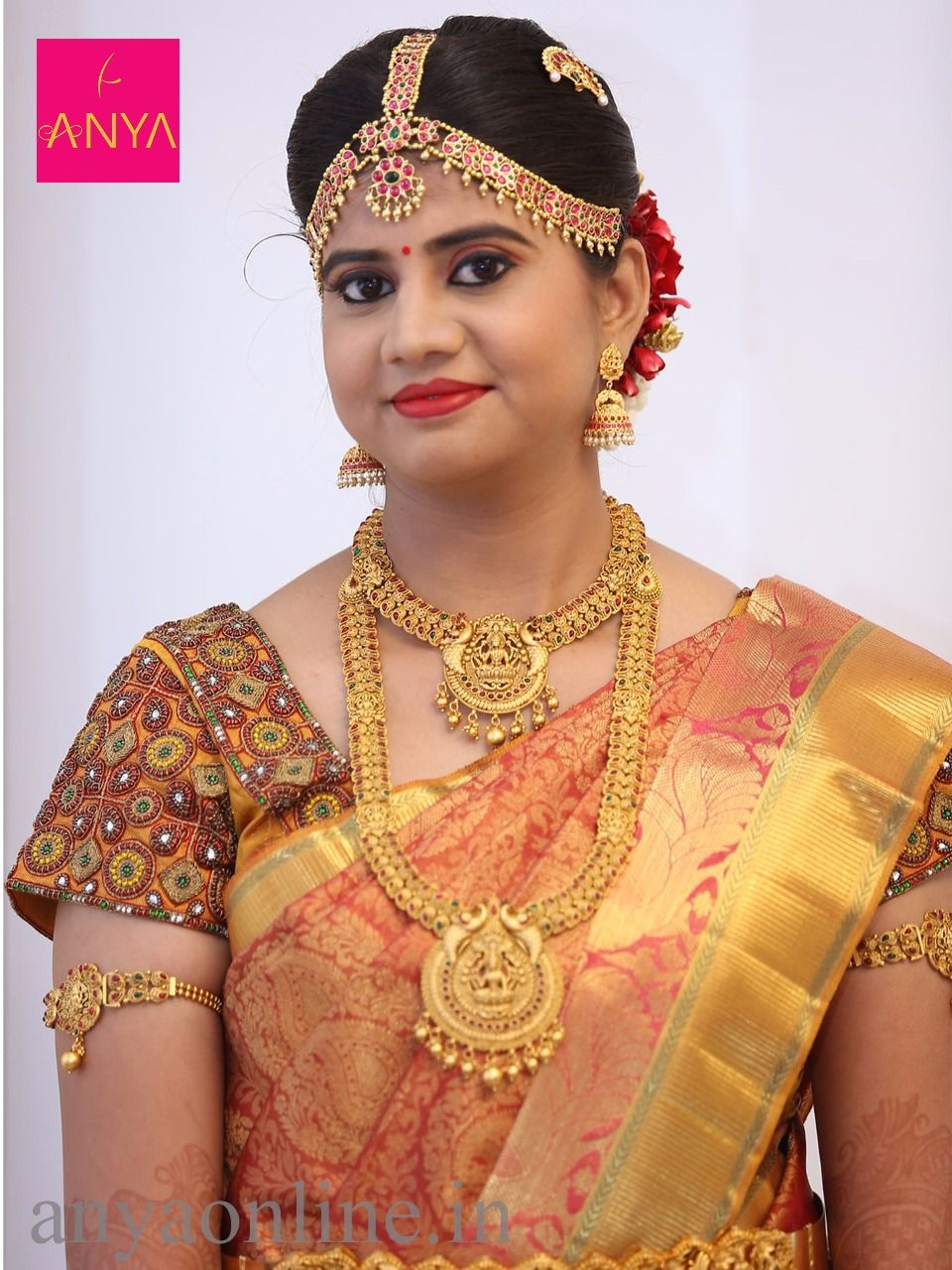 Customised Wedding Kunthan Work Blouses Coimbatore frm