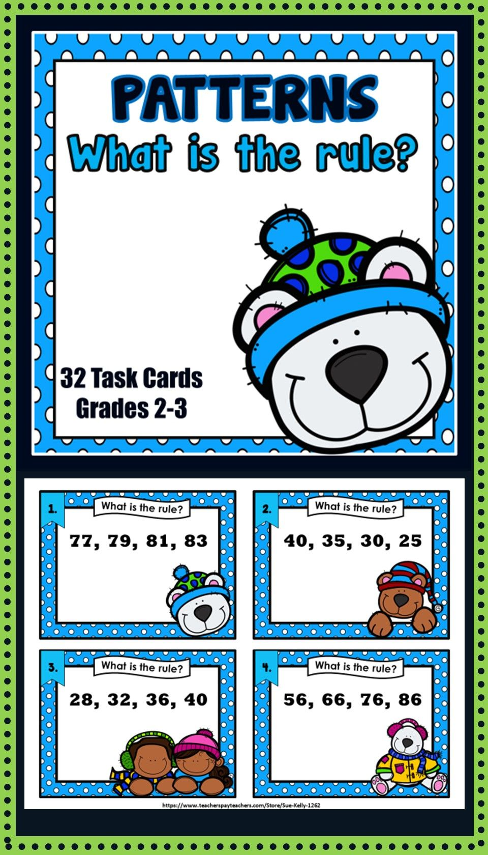 Identification Of Patterns Addition And Subtraction Operations Students Determine The Rule For Sequence Of Numbers Math Patterns Task Cards Number Patterns [ 1680 x 960 Pixel ]